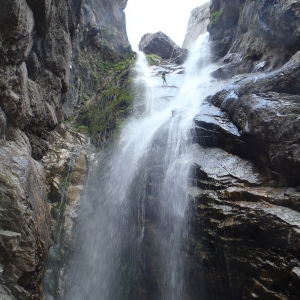 Vista de la gran cascada