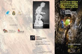 Tríptico del XLII Concurso de Fotografía organizado por el Grupo Espeleológico Ribereño