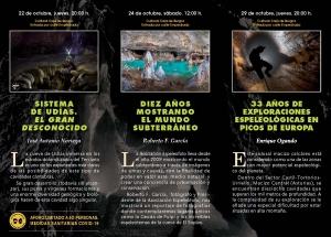Tríptico XLIII Jornadas de la espeleología